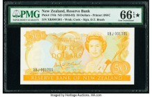 New Zealand Reserve Bank of New Zealand 50 Dollars ND (1983-92) Pick 174b PMG Gem Uncirculated 66 EPQ S.   HID09801242017  © 2020 Heritage Auctions | ...