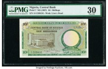 Nigeria Central Bank of Nigeria 10 Shillings ND (1967) Pick 7 PMG Very Fine 30.   HID09801242017  © 2020 Heritage Auctions | All Rights Reserved