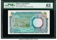 Nigeria Central Bank of Nigeria 5 Pounds ND (1967) Pick 9 PMG Choice Uncirculated 63. Pinhole.  HID09801242017  © 2020 Heritage Auctions | All Rights ...