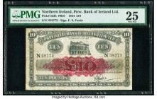 Northern Ireland Provincial Bank of Ireland Limited 10 Pounds 10.12.1934 Pick 233b PMG Very Fine 25. Minor rust.  HID09801242017  © 2020 Heritage Auct...