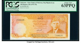 Pakistan State Bank Haj Issue 100 Rupees ND (1975-78) Pick R7 PCGS Choice New 63PPQ.   HID09801242017  © 2020 Heritage Auctions | All Rights Reserved