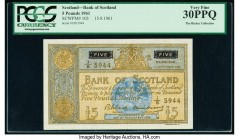 Scotland Bank of Scotland 5 Pounds 15.9.1961 Pick 103 PCGS Very Fine 30 PPQ.   HID09801242017  © 2020 Heritage Auctions | All Rights Reserved