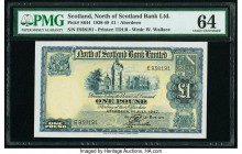Scotland North of Scotland Bank Ltd. 1 Pound 1.7.1947 Pick S644 PMG Choice Uncirculated 64.   HID09801242017  © 2020 Heritage Auctions | All Rights Re...