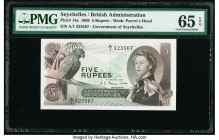 Seychelles Government of Seychelles 5 Rupees 1.1.1968 Pick 14a PMG Gem Uncirculated 65 EPQ.   HID09801242017  © 2020 Heritage Auctions | All Rights Re...