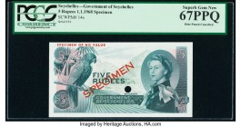 Seychelles Government of Seychelles 5 Rupees 1968 Pick 14s Color Trial Specimen PCGS Superb Gem New 67 PPQ. One POC.  HID09801242017  © 2020 Heritage ...