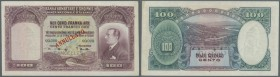 Albania / Albanien. 100 Franke Ari ND(1926) Specimen P. 4s, light fold at right border, in condition: XF+.