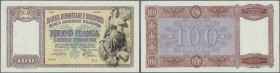 Albania / Albanien. 100 Franga ND(1940) P. 8 in condition: F+ to VF-.