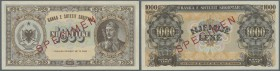 Albania / Albanien. 1000 Leke 1947 Specimen P. 23s, in condition: UNC.