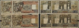 Algeria / Algerien. Huge lot with 78 Banknotes Algeria 5000 Francs with different dates 1946, 1947, 1949, 1950, 1951, 1952, 1953 and 1955 in a lot of ...