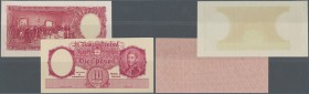 Argentina / Argentinien. 10 Pesos ND Proof Print P. 265p, front and back seperatly printed on banknote paper, condition: UNC. (2 pcs)