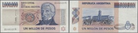 Argentina / Argentinien. 1.000.000 Pesos ND(1981-83) P. 310, minor dint at upper left, otherwise perfect, condition: aUNC.