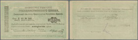 "Armenia / Armenien. Erivan branch 50 Rubles 1919 with text ""valid until 15.01.1920"" on back, P.21, several soft folds, tiny tears at lower margin and ..."