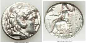 MACEDONIAN KINGDOM. Alexander III the Great (336-323 BC). AR tetradrachm (25mm, 17.08 gm, 7h). XF. Posthumous issue of Babylon I, under Seleucus I Nic...