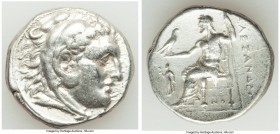 MACEDONIAN KINGDOM. Alexander III the Great (336-323 BC). AR tetradrachm (26mm, 16.99 gm, 7h). VF. Posthumous issue of Corinth, ca. 310-290 BC. Head o...