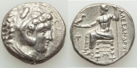 MACEDONIAN KINGDOM. Alexander III the Great (336-323 BC). AR tetradrachm (25mm, 17.01 gm, 1h). Choice VF. Lifetime issue of 'Babylon', ca. 331-325 BC....