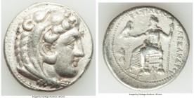 MACEDONIAN KINGDOM. Alexander III the Great (336-323 BC). AR tetradrachm (28mm, 16.96 gm, 3h). Choice VF. Posthumous issue of Tarsus, ca. 323-317 BC. ...