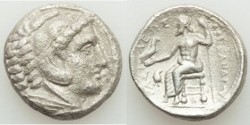 MACEDONIAN KINGDOM. Alexander III the Great (336-323 BC). AR tetradrachm (24mm, 16.17 gm, 9h). VF, porosity. Early posthumous issue of 'Amphipolis', b...