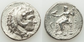 MACEDONIAN KINGDOM. Alexander III the Great (336-323 BC). AR tetradrachm (26mm, 16.51 gm, 1h). Choice VF. Late lifetime or early posthumous issue of '...
