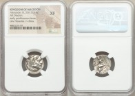 MACEDONIAN KINGDOM. Alexander III the Great (336-323 BC). AR drachm (17mm, 11h). NGC XF. Posthumous issue of Abydus (?), ca. 310-301 BC. Head of Herac...