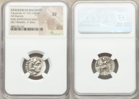 MACEDONIAN KINGDOM. Alexander III the Great (336-323 BC). AR drachm (17mm, 11h). NGC XF. Posthumous issue of 'Colophon', ca. 310-301 BC. Head of Herac...