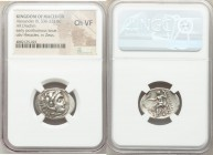 MACEDONIAN KINGDOM. Alexander III the Great (336-323 BC). AR drachm (22mm, 11h). NGC Choice VF. Early posthumous issue of Magnesia ad Maeandrum, ca. 3...