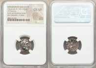 MACEDONIAN KINGDOM. Alexander III the Great (336-323 BC). AR drachm (17mm, 11h). NGC Choice VF. Posthumous issue of Abydus, by Antigonus I Monophthalm...