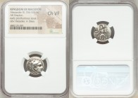 MACEDONIAN KINGDOM. Alexander III the Great (336-323 BC). AR drachm (16mm, 5h). NGC Choice VF. Early posthumous issue of Sardes, ca. 323-319 BC. Head ...