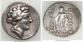 THRACIAN ISLANDS. Thasos. Ca. 2nd-1st centuries BC. AR tetradrachm (32mm, 16.63 gm, 10h). Fine, ex-jewelry, plugged hole. Ca. 148-90/80 BC. Head of Di...
