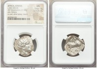 ATTICA. Athens. Ca. 440-404 BC. AR tetradrachm (25mm, 17.20 gm, 2h). NGC MS 4/5 - 4/5. Mid-mass coinage issue. Head of Athena right, wearing crested A...
