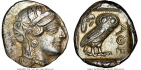 ATTICA. Athens. Ca. 440-404 BC. AR tetradrachm (26mm, 17.18 gm, 1h). NGC Choice XF 5/5 - 4/5. Mid-mass coinage issue. Head of Athena right, wearing cr...