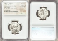 ATTICA. Athens. Ca. 440-404 BC. AR tetradrachm (24mm, 17.20 gm, 5h). NGC Choice VF 5/5 - 4/5. Mid-mass coinage issue. Head of Athena right, wearing cr...