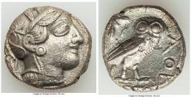ATTICA. Athens. Ca. 440-404 BC. AR tetradrachm (24mm, 16.33 gm, 8h). XF, porosity. Mid-mass coinage issue. Head of Athena right, wearing crested Attic...