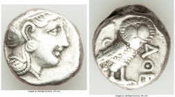 ATTICA. Athens. Ca. 393-294 BC. AR tetradrachm (22mm, 16.90 gm, 8h). VF. Head of Athena right, wearing crested Attic helmet ornamented with three laur...