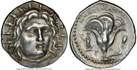 CARIAN ISLANDS. Rhodes. Ca. 250-230 BC. AR didrachm (20mm, 12h). NGC Choice XF S. Mnasimaxus, magistrate. Radiate head of Helios facing, turned slight...