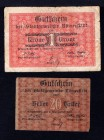 Czechoslovakia Romerstadt Lot of 2 Notes 1919 