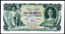 Czechoslovakia 100 Korun 1931 Serie A