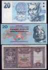 Czechoslovakia Lot of 3 Banknotes 1940 -1994