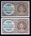 Bohemia & Moravia Lot of 2 Banknotes 1940 