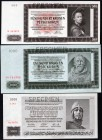 Bohemia & Moravia Lot of 3 Banknotes 1942 -1944