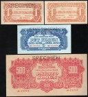 Czechoslovakia Lot of 4 Banknotes 1944 