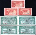 Czechoslovakia Lot of 7 Banknotes 1945 -1949
