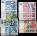 Czechoslovakia Lot of Old Banknotes 