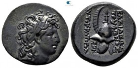 Seleukid Kingdom. Uncertain mint. Tryphon 142-138 BC. Bronze Æ