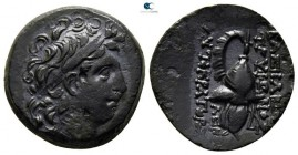 Seleukid Kingdom. Uncertain mint 100. Tryphon 142-138 BC. Bronze Æ