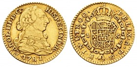 Charles III (1759-1788). 1 escudo. 1781. Madrid. PJ. (Cal 2008-624). (Cal 2019-1361). Au. 3,33 g. Canto liso a las 12 h. Almost VF. Est...120,00.