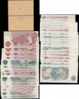 Bank of England Fforde, Hollom & O'Brien QE2 portrait & seated Britannia issues (21) in various high grades GVF-EF to about UNC - UNC comprising O'Bri...