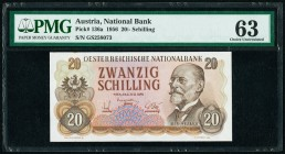 Austria Austrian National Bank 20 Schilling 2.7.1956 Pick 136a PMG Choice Uncirculated 63.   HID09801242017  © 2020 Heritage Auctions | All Rights Res...