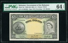 Bahamas Bahamas Government 1 Pound 1936 (ND 1961) Pick 15c PMG Choice Uncirculated 64 EPQ.   HID09801242017  © 2020 Heritage Auctions | All Rights Res...