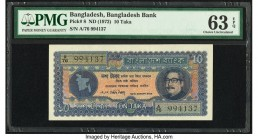Bangladesh Bangladesh Bank 10 Taka ND (1972) Pick 8 PMG Choice Uncirculated 63 EPQ. Staples holes at issue.  HID09801242017  © 2020 Heritage Auctions ...