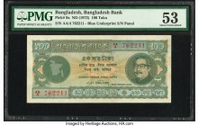 Bangladesh Bangladesh Bank 100 Taka ND (1972) Pick 9a PMG About Uncirculated 53. Staple holes.  HID09801242017  © 2020 Heritage Auctions | All Rights ...